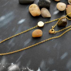 Sideways Coin necklace, Coin neckla..